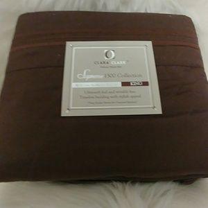 Clara Clark 1500 Coffee ☕ King Size Sheet Set